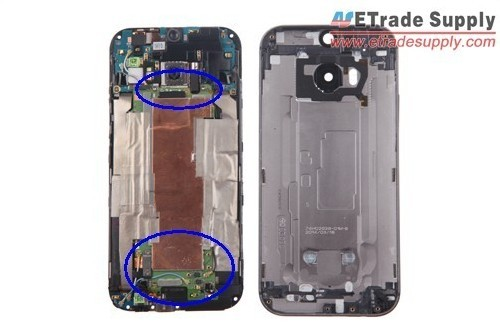 undo five screws holding the HTC One M8 motherboard