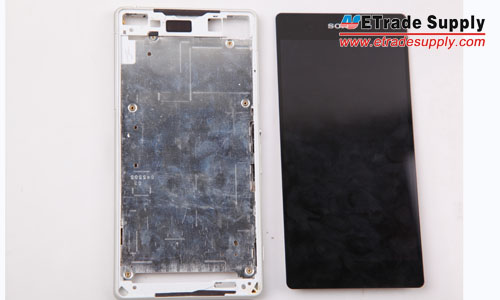 The front frame and LCD Assembly