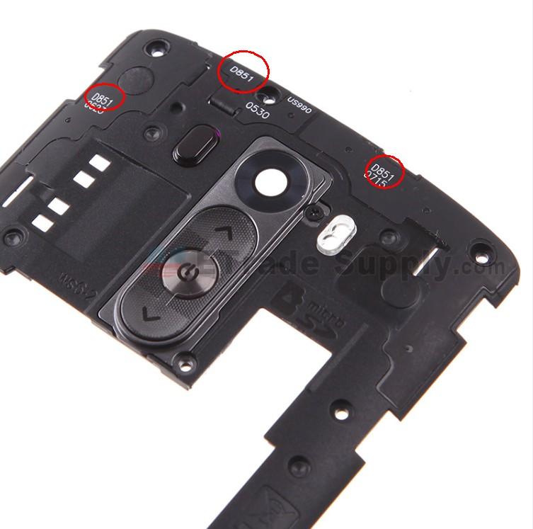 LG G3 D851 Rear Housing Assembly - Black (4)