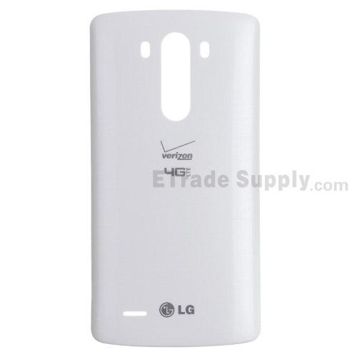 OEM LG G3 VS985 Battery Door - White - With Verizon and LG Logo (1)