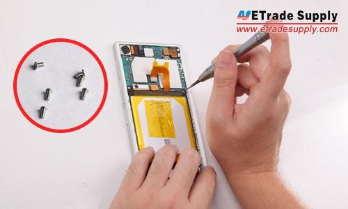 Twist six screws in the handset