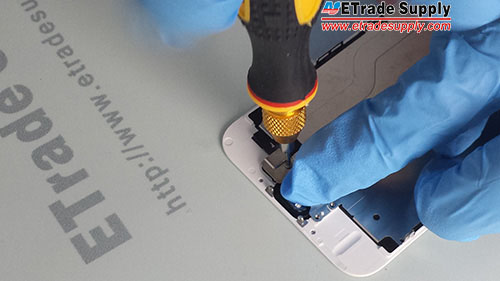 Install 3 screws to secure the metal cover