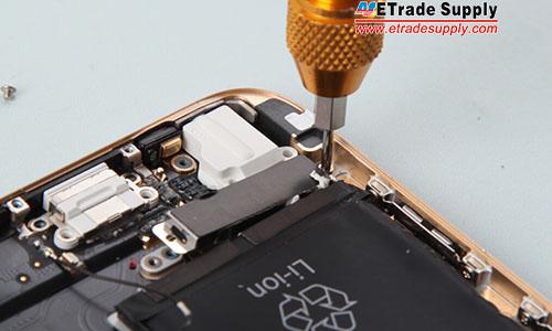 Fasten vibrating motor with 2 screws