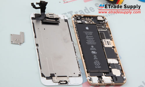 6. The iPhone 6 LCD assembly and rear housing assembly are separated.