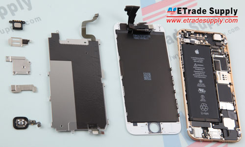 13. Separated LCD assembly, metal plate and rear housing assembly.