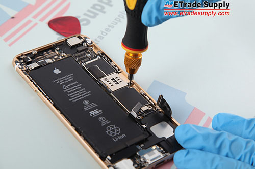 Install 1 screw in the middle of the logic board