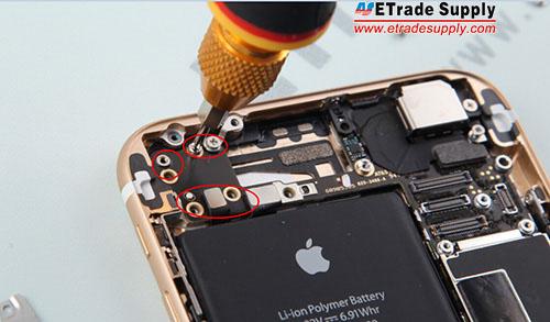 Install 6 screws to install the Wi-Fi antenna retaining bracket