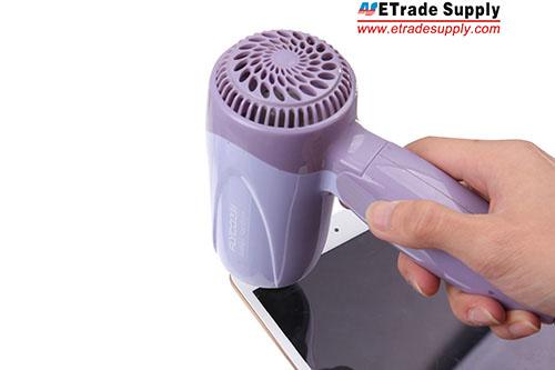 1.Use the hair drier to heat the iPad mini 3 edge to melt the adhesive.