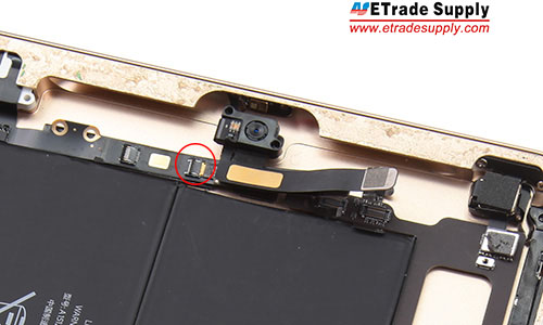 13.disconnect the sensor flex cable to the mother board.