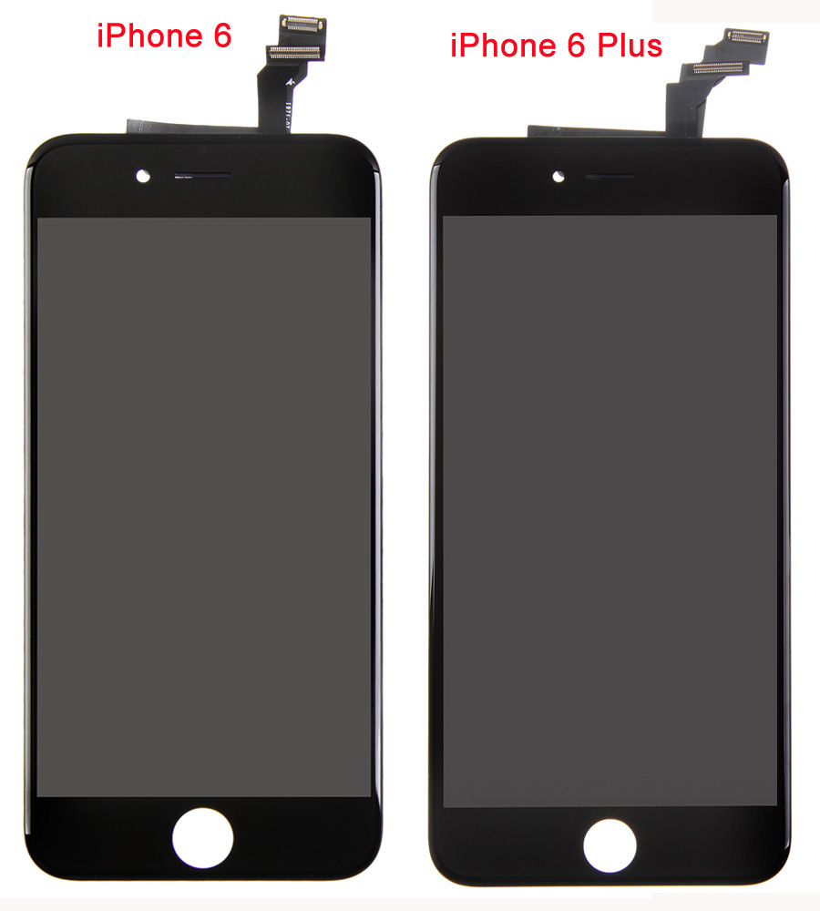 differences between iphone 6 and iphone 6 plus lcd assembly. Black Bedroom Furniture Sets. Home Design Ideas