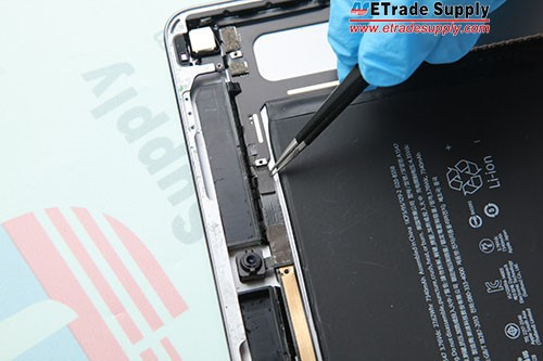 4.Install the front facing camera and connect the flex cable.