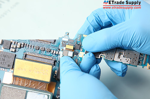 5. Connect the rear facing camera to the mother board.