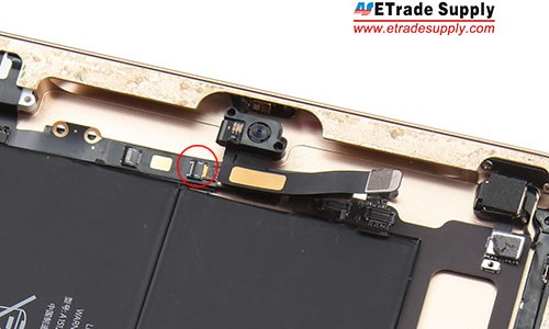 Connect the senor flex cable to the earphone jack flex cable.