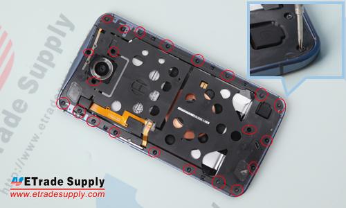 Nexus 6 rear housing screws