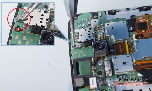 Nexus 6 undo main board screw