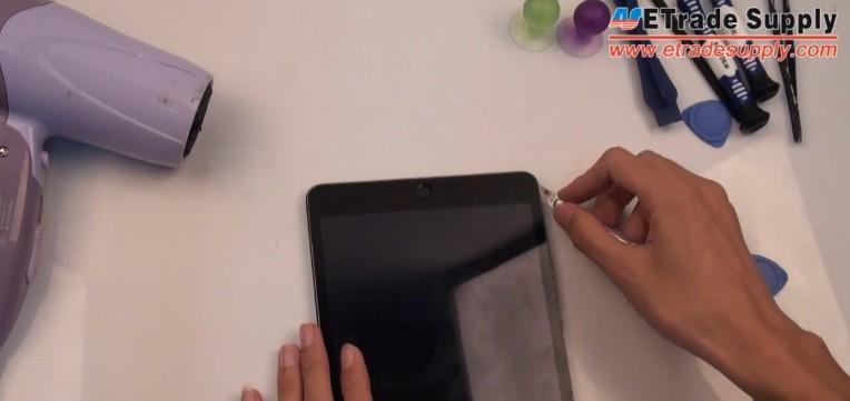 make a gap between ipad mini 2 digitizer and rest parts