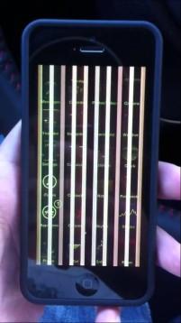 iphone vertical lines