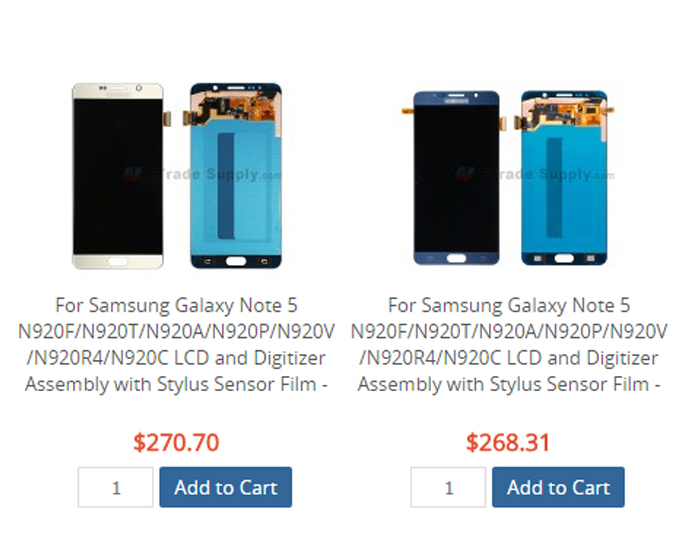 note5 screen assembly price