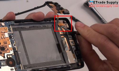peel off the rest of the charging port flex cable
