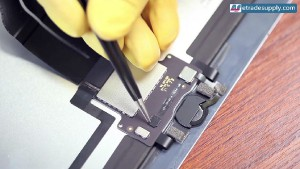 1.peel off the black tape adhesive