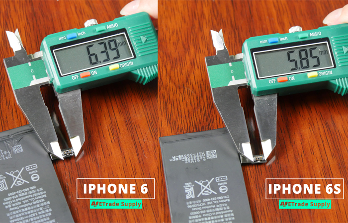 3.iPhone 6 vs iPhone 6 battery connector
