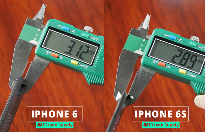 4.iPhone 6 vs iPhone 6 battery thickness