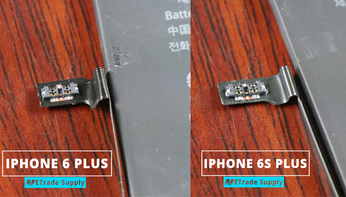6.iPhone 6s plus vs 6 plus battery connector