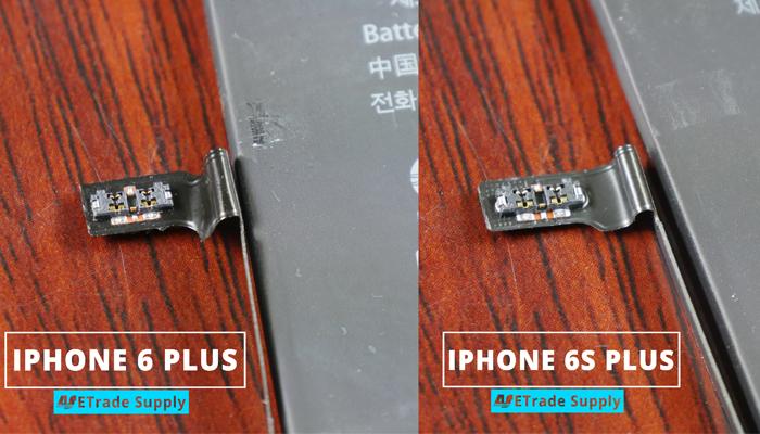 6.iPhone 6s plus vs 6 plus battery connector