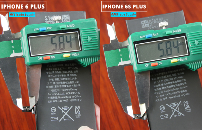 7.iPhone 6s plus vs 6 plus battery connector