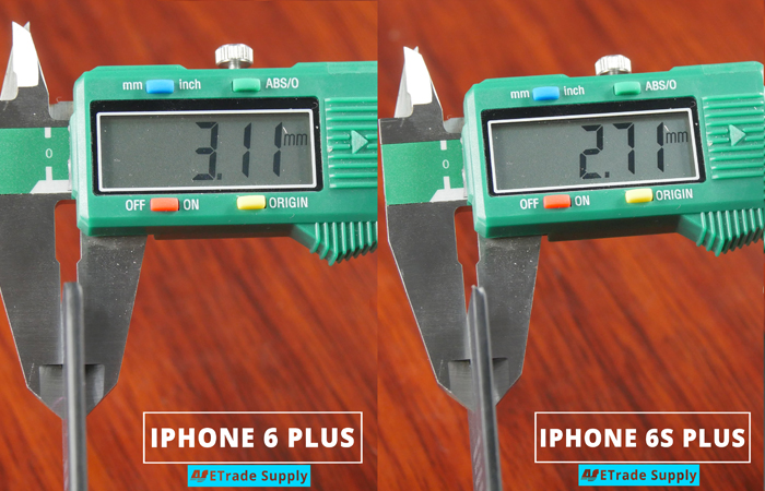 8.iPhone 6s plus vs 6 plus battery thickness