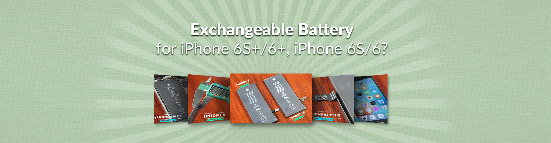 exchangeable battery for iPhone