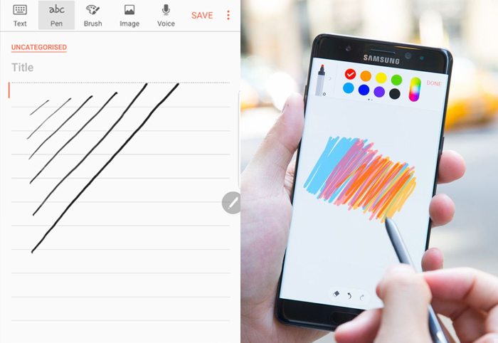 10.note 7 s pen write notes