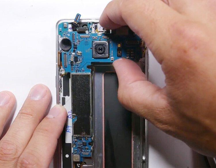 16.lift up motherboard