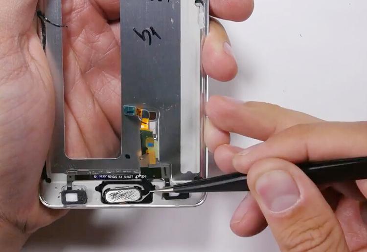 34.remove home button flex cable