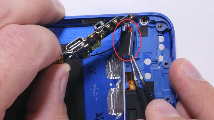 17.remove charging port with vibrator
