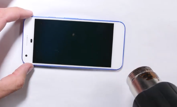 2.heat up the screen surface