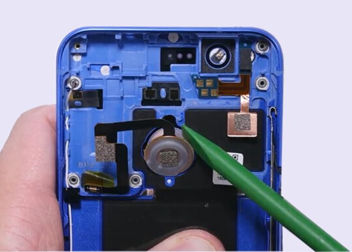 26.remove fingerprint sensor flex cable