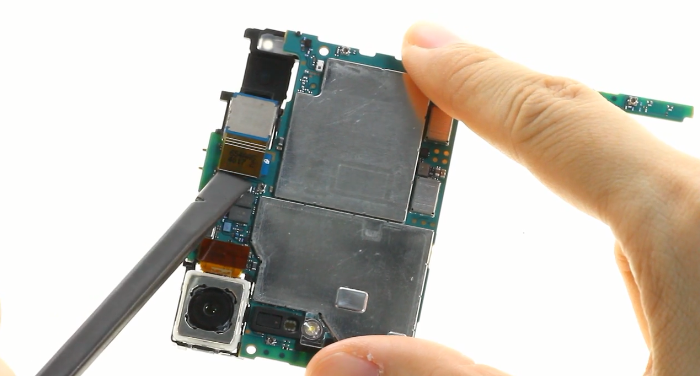 38.disconnect front facing camera connector