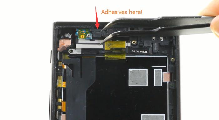 41.remove loudspeaker