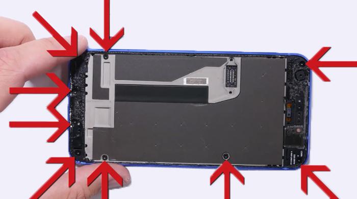 8.remove screws