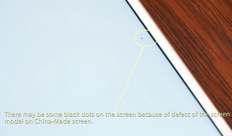 iphone 7 plus display black dot