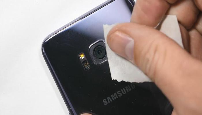 replace galaxy s8 camera lens 7