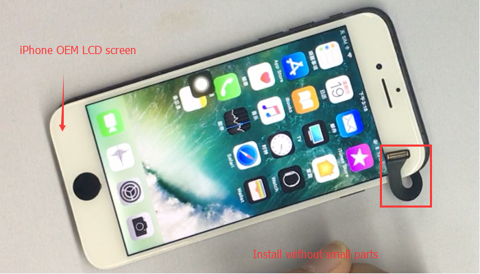 iPhone 7 OEM LCD screen without small parts