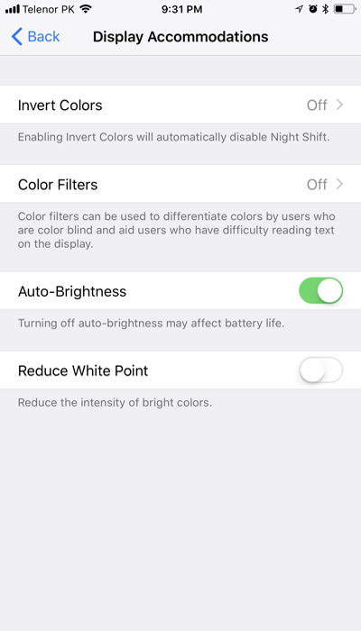 how to turn on Auto-Brightness