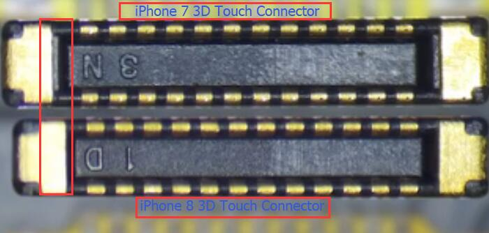 iPhone 7 and iPhone 8 3D Touch connectors