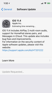 iOS 11.4 software update