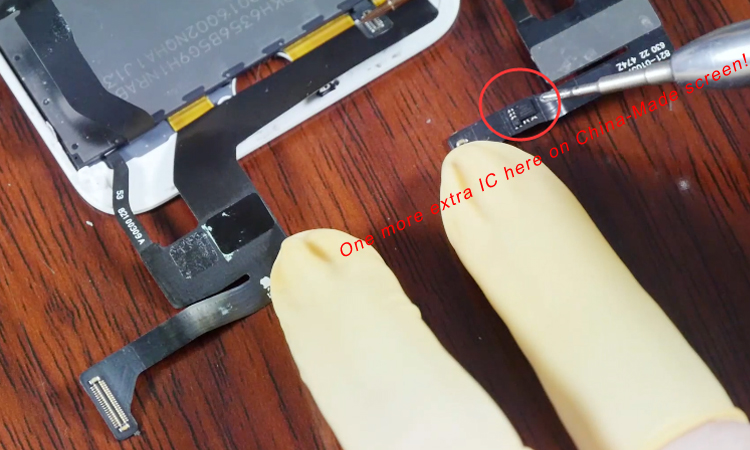extra ic on both china made iphone 7 series screen