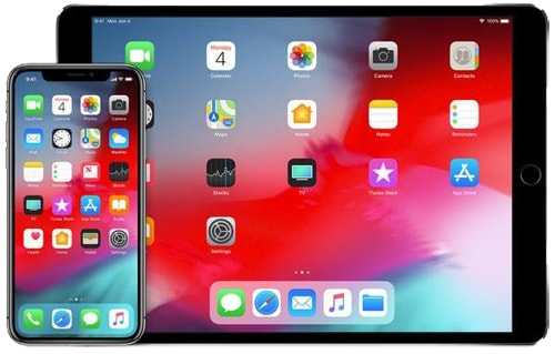Apple device with iOS 12