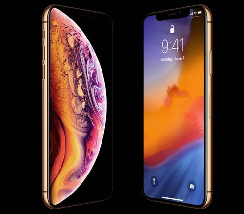 iPhone XS with gold color