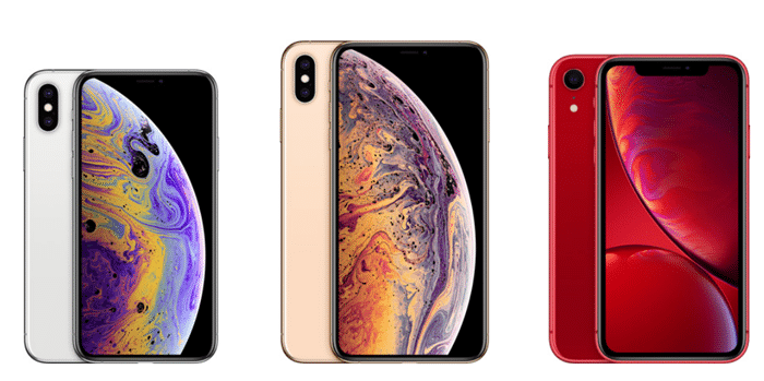 iPhone xs, xs max, and xr image